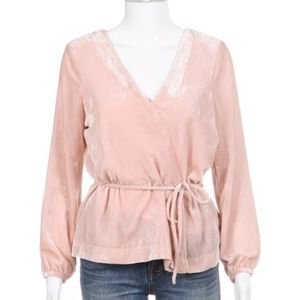 J Crew Pink Faux Wrap Pink Top Size 14 NWT